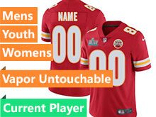 Mens Women Youth Nfl Kansas City Chiefs 2020 Super Bowl Liv Red Current Player Vapor Untouchable Limited Jersey