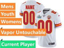 Mens Women Youth Nfl Kansas City Chiefs 2020 Super Bowl Liv White Current Player Vapor Untouchable Limited Jersey