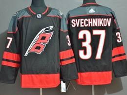 Mens Nhl Carolina Hurricanes #37 Andrei Svechnikov Black Adidas Jersey
