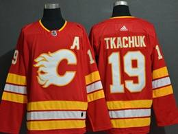 Mens Nhl Calgary Flames #19 Matthew Tkachuk Red Adidas Player Jersey