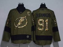 Mens Nhl Tampa Bay Lightning #91 Steven Stamkos Green Throwbacks Adidas Jersey
