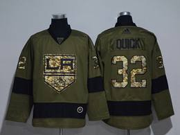Mens Nhl Los Angeles Kings #32 Jonathan Quick Green Throwbacks Adidas Jersey