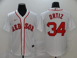 Mens Mlb Boston Red Sox #34 David Ortiz White Cool Base Nike Jersey