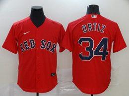 Mens Mlb Boston Red Sox #34 David Ortiz Red Cool Base Nike Jersey