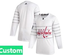 Mens Nhl Washington Capitals Custom Made White 2020 All Star Adidas Jersey