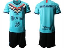 Mens 20-21 Soccer America Club ( Custom Made ) Green Second Away Short Sleeve Suit Jersey