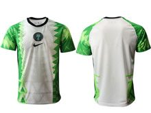 Mens 20-21 Soccer Nigeria Ntaional Team ( Custom Made ) Green Home Thailand Short Sleeve Jersey