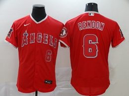 Mens Mlb Los Angeles Angels #6 Anthony Rendon Red Flex Base Nike Jersey