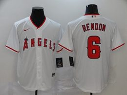 Mens Mlb Los Angeles Angels #6 Anthony Rendon White Cool Base Nike Jersey