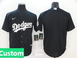 Mens Womens Youth Mlb Los Angeles Dodgers Custom Made Black Cool Base 2020 Nike Jersey