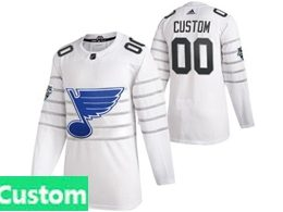 Mens Nhl St.louis Blues White Custom Made 2020 All Star Adidas Jersey