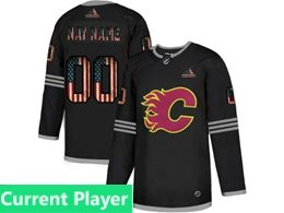 Mens Nhl Calgary Flames Current Player Black 2020 National Flag Adidas Jersey
