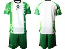Mens 20-21 Soccer Nigeria Ntaional Team ( Custom Made ) Green Home Short Sleeve Jersey