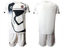 Mens Soccer Club Tijuana ( Custom Made ) White Star Wars Short Sleeve Jersey