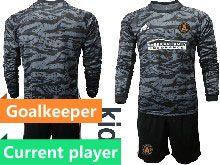 Kids 20-21 Soccer Atlanta United Club Current Player Black Goalkeeper Long Sleeve Suit Jersey