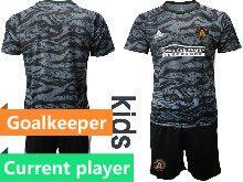 Kids 20-21 Soccer Atlanta United Club Current Player Black Goalkeeper Short Sleeve Suit Jersey