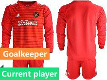 Mens 20-21 Soccer Atlanta United Club Current Player Red Goalkeeper Long Sleeve Suit Jersey