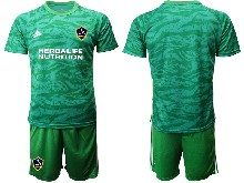 Mens 20-21 Soccer Los Angeles Galaxy Club ( Custom Made ) Green Goalkeeper Short Sleeve Suit Jersey