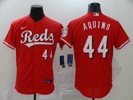 Mens Mlb Cincinnati Reds #44 Aristides Aquino Red Flex Base Nike Jersey