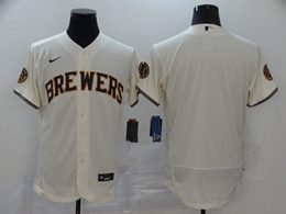 Mens Mlb Milwaukee Brewers Blank White Flex Base 2020 Nike Jersey