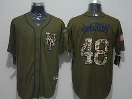 Mens Women Mlb New York Mets #48 Jacob Degrom Army Green Cool Base Nike Jersey