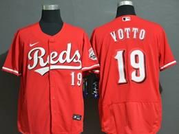 Mens Mlb Cincinnati Reds #19 Joey Votto Red Flex Base Nike Jersey