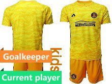 Kids 20-21 Soccer Club Toronto Fc Current Player Yellow Goalkeeper Short Sleeve Suit Jersey