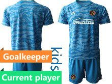 Kids 20-21 Soccer Club Toronto Fc Current Player Blue Goalkeeper Short Sleeve Suit Jersey