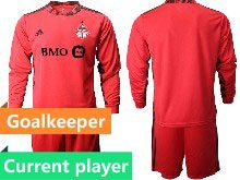 Mens 20-21 Soccer Club Toronto Fc Current Player Red Goalkeeper Short Sleeve Suit Jersey