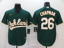 Mens Mlb Oakland Athletics #26 Matt Chapman Green Cool Base Nike Jersey