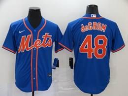 Mens Mlb New York Mets #48 Jacob Degrom Blue Cool Base Nike Jersey
