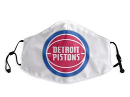 Mens Nba Detroit Pistons White Face Mask Protection