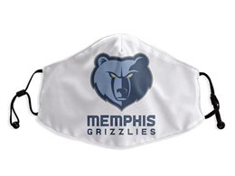 Mens Nba Memphis Grizzlies White Face Mask Protection