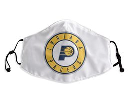 Mens Nba Indiana Pacers White Face Mask Protection
