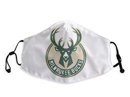 Mens Nba Milwaukee Bucks White Face Mask Protection