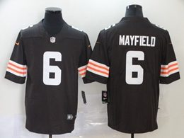 Mens Nfl Cleveland Browns #6 Baker Mayfield 2020 Brown Vapor Untouchable Limited Jersey