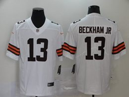 Mens Nfl Cleveland Browns #13 Odell Beckham Jr 2020 White Vapor Untouchable Limited Jersey