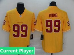 Mens Women Youth Nfl Washington Redskins 2020 Yellow Current Player Vapor Untouchable Limited Jersey