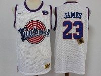 Mens Nba Space Jam Tune Squad #23 James Nike White Jersey