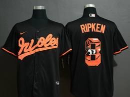 Mens Mlb Baltimore Orioles #8 Cal Ripken Jr. 2020 Black Printing Cool Base Nike Jersey