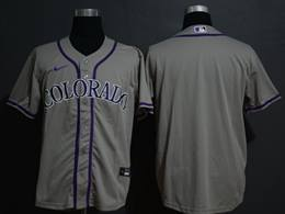 Mens Mlb Colorado Rockies Gray Blank Cool Base Nike Jersey