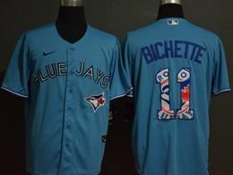 Mens Mlb Toronto Blue Jays #11 Bo Bichette 2020 Blue Printing Cool Base Nike Jersey