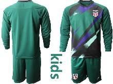 Kids 20-21 Soccer Usa National Team Custom Made 6 Colors Dark Green Goalkeeper Long Sleeve Suit Jersey