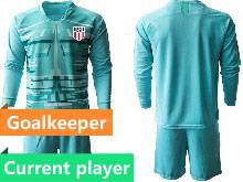 Mens 20-21 Soccer Usa National Team Current Player Blue Goalkeeper Long Sleeve Suit Jersey