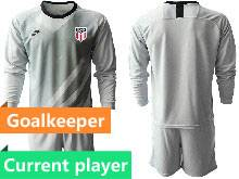 Mens 20-21 Soccer Usa National Team Current Player Gray Goalkeeper Long Sleeve Suit Jersey