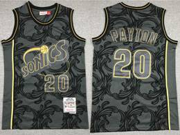 Mens Nba Seattle Supersonics #20 Gary Payton Black 1995-96 Mitchell&ness Swingman Hardwood Classics Jersey