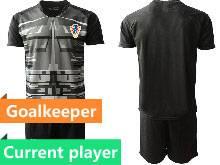 Mens Kids Soccer Croatia National Current Player Black 2020 European Cup Goalkeeper Short Sleeve Suit Jersey