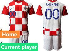Mens Kids Soccer Croatia National Current Player Red And White 2020 European Cup Home Short Sleeve Suit Jersey