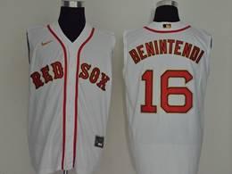 Mens Mlb Boston Red Sox #16 Andrew Benintendi White 2020 Refreshing Sleeveless Fan Cool Base Nike Jersey