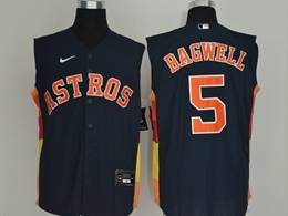Mens Mlb Houston Astros #5 Jeff Bagwell Navy 2020 Refreshing Sleeveless Fan Cool Base Nike Jersey